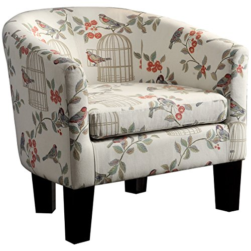 Rosevera Contemporary Duilio Barrel Chair, Sweet Blossoms