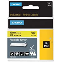 LABEL, DYMO RHINO, YELLOW 1/2X11.5 Electronic Computer