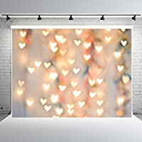 7x5ft Valentines Day Photography Backdrops Customized Gloden Heart Photo Studio Background Props