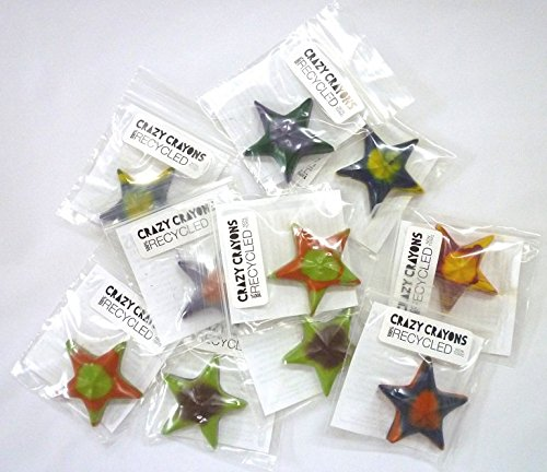 Party Favor Eco Stars With 2-tone Swirl (100% Recycled Crayons) (Pack of 10)