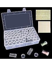 HOHOTIME 60 Grids Diamond Painting Storage Boxes, Acrylic Bead Organizer, Diamond Embroidery Box Storage Containers for DIY Art Craft, Jewelry