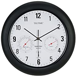 Atomic RC Radio Control Office Wall Clock Temperature Weather Station