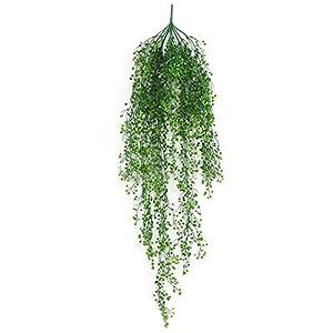 dezirZJjx Artificial Plants 1Pc Artificial Flower Ivy Vine Foliage Wall Hanging Garland Plant Garden Decor - Green 59