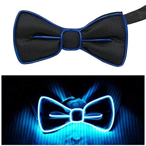 Fixinus LED Light Up Bow Tie Perfect for Christmas Halloween New Years Music Festival Rave Party -