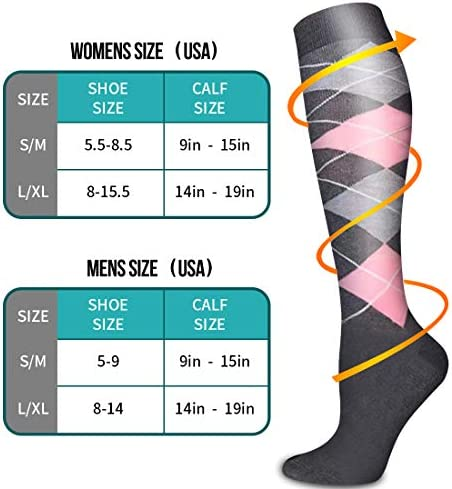 Copper Compression Socks - Compression Socks Women and Men - Best for Running, Athletic,Hiking,Travel,Flight