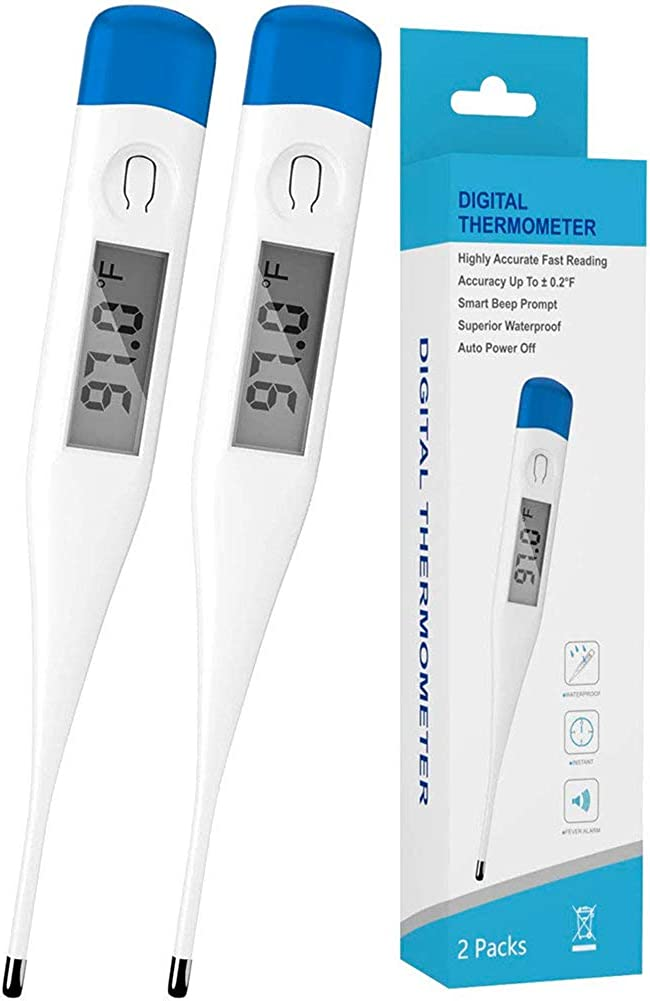 KMOOL Digital Tharmomitor For Any Ages, Measure Device with Large Lcd Fast Reading 2 Packs: Clothing