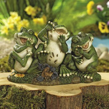 Laughing Frogs Garden Outdoor Yard Decor
