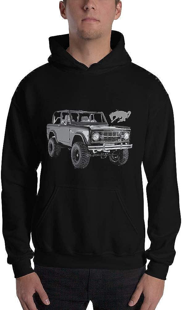 1973 Black Classic Ford Bronco Unisex Hoodie