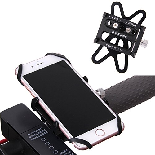 GUB Mountian Bike Phone Mount – Universal Adjustable Bike Mount Cell Phone GPS Mount Holder Rotating Cradle Clamp with Silicone band for Mountain Bike Motorbike,iPhone Samsung (black with Band) Review