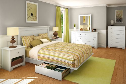 South Shore Vito Collection 6-Drawer Double Dresser, Pure White