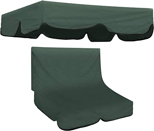 Green Universal Waterproof 2 Seater Garden Swing Seat Replacement Canopy Cover