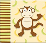 MCS MBI 13.5x12.5 Inch 3-D Raised Character Scrapbook Album with 12x12 Inch Pages, Monkey (848138)