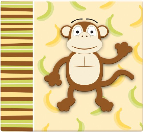 Kids Scrapbook Page - MCS MBI 13.5x12.5 Inch 3-D Raised Character Scrapbook Album with 12x12 Inch Pages, Monkey (848138)