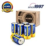 Best C Batteries - Allmax All-powerful Alkaline Batteries-size C, 1.5V dry cell Review