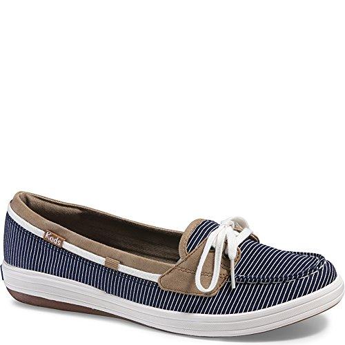 - Keds Women's Glimmer Nautical Stripe Fashion Sneaker, Navy, 7 W US