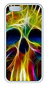 Cool Skull 06 - iPhone 5S Case Funny Lovely Best Cool Customize White Cover by supermalls