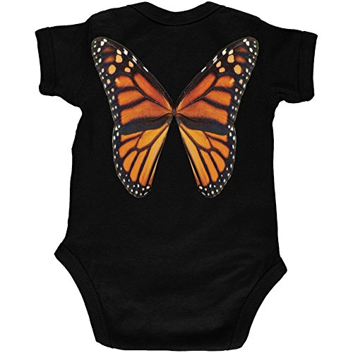 [Monarch Butterfly Wings Costume Black Soft Baby One Piece - 12 month] (Halloween Costumes For 12 Month Old Girl)