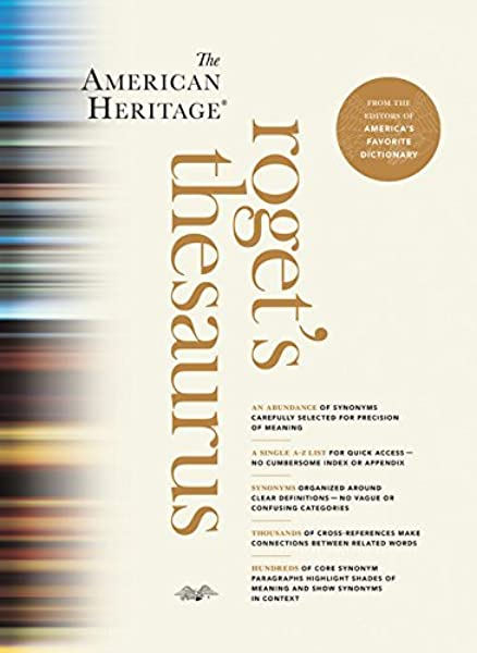 The American Heritage Roget S Thesaurus Editors Of The American Heritage Dictionaries 9780547964065 Amazon Com Books