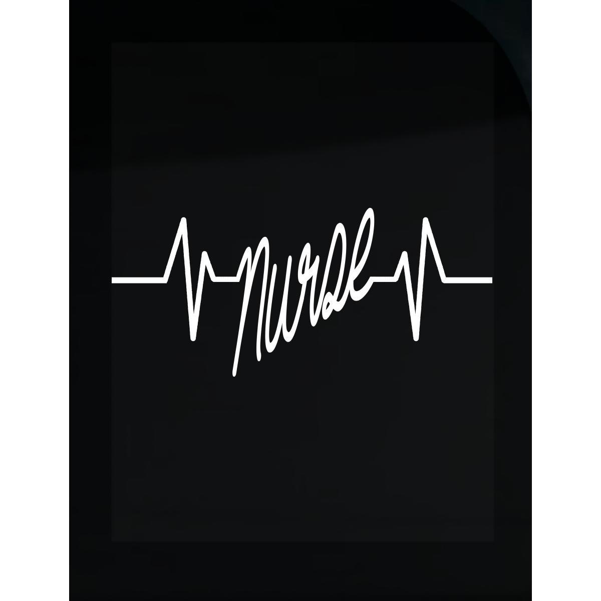 Custom Design By Jcluinc | Nurse Heartbeat C - Sticker