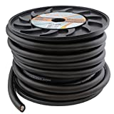 Heat Car Audio PC0-50B 1/0 AWG 0 Gauge 50 ft Black Power Wire Ground Cable