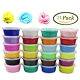 Anditoy 24 Colors Fluffy Soft Super Light Clay Floam Slime Toy for Kids, DIY, Party Favors