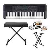 Yamaha PSRE273 61-Key Portable Keyboard Bundle with Knox Stand, Bench and Accessories