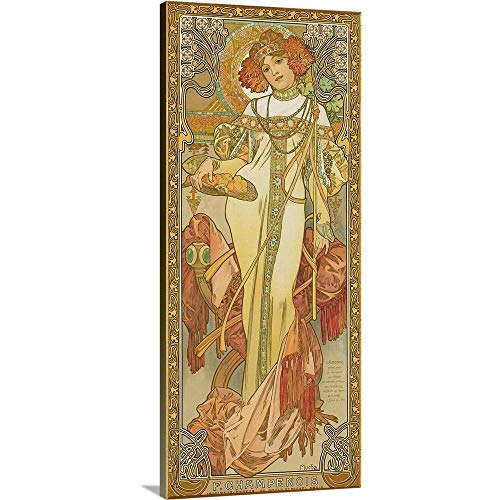 GREATBIGCANVAS Gallery-Wrapped Canvas Entitled Four Seasons: Autumn by Alphonse Mucha 13