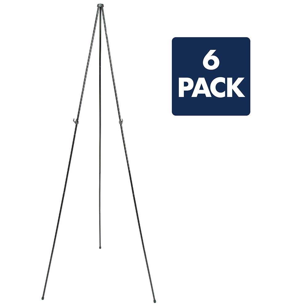 Quartet Easel, Instant Easel Stand, 63'', Tripod Base, 6-Pack (S29E)