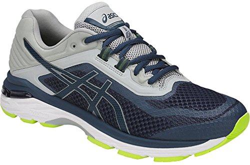 ASICS Mens GT-2000 6 Sneaker, Dark Blue/Dark Blue/Mid Grey, Size 15
