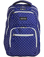 Kenneth Cole R-Tech Contour 16 Laptop Backpack - Blue/White Polka Dot