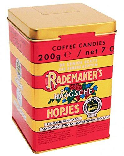 Rademaker Haagsche Koffie Hopjes in Blikje (Dutch Coffee Candy in Tin) (200gram/ 7oz Can)