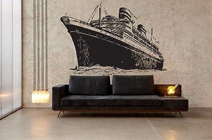 vinyl Wall Decal Sticker Titanic Cruise Ship Size 22u0026quot; ... & Amazon.com: vinyl Wall Decal Sticker Titanic Cruise Ship Size 22