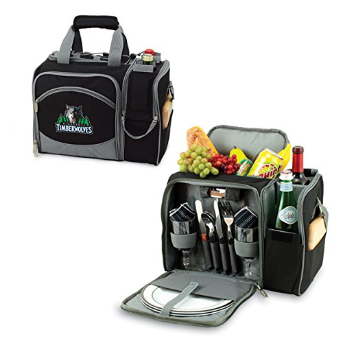 12 Can NBA Malibu Picnic Cooler Color: Black, NBA Team: Minnesota Timberwolves by PICNIC TIME