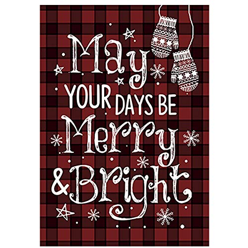 Morigins May Your Days Be Merry and Bright Decorative Christmas Winter Garden Flag 12.5x18 Inch (May Your Days Be Merry And Bright)