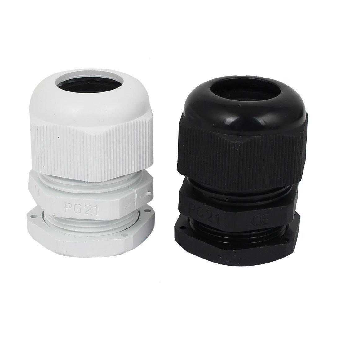 Amazon.com: DealMux 13-18mm 10pcs plástico impermeável PG21 Cable Gland Branco Preto: Electronics