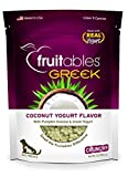 Fruitables Greek Crunchy Dog Treats Coconut Yogurt Flavor With Pumpkin Granola & Greek Yogurt 7 Oz