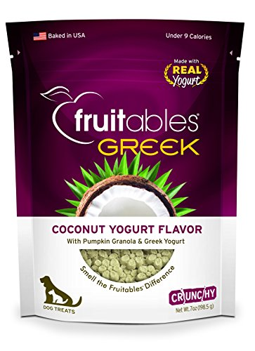 Fruitables Greek Coconut Yogurt Crunchy Dog Treats (Coconut Treats For Dogs)