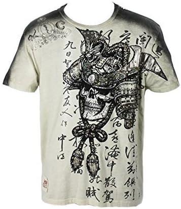 KEY Closet Tribal águila y calaveras Camiseta gris claro (kcts007) size 38 MEDIANO: Amazon.es: Ropa y accesorios
