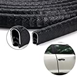 #9: Keeping Fun Enhanced Edition Car Door Edge Guards U Shape Edge Trim Rubber Weather Stripping Seal Protector Car Protection Door Edge Fit for Most Car | 13Ft(4M) black |