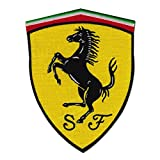 Ferrari Embroidered Iron on Patch ,Sew On Car Logo Clothes Clothing Motorcycle
