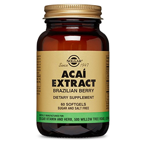 Acai Extract Brazilian Berry (Solgar Acai Extract Softgels, Brazilian Berry, 60 Count)