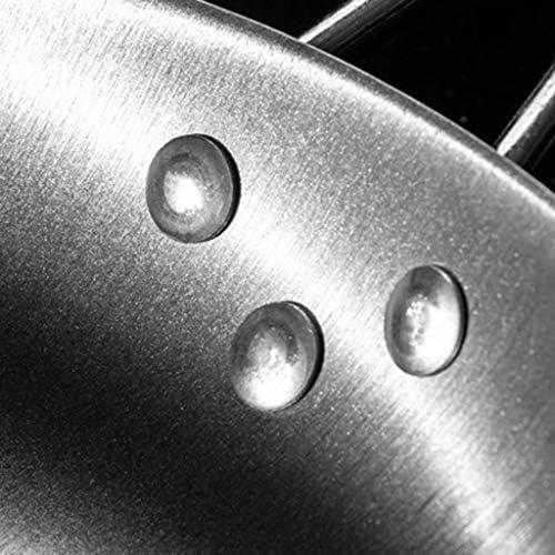 SMEJS Métal Pan - Poêle à frire antiadhésive Poêle à oeufs ergonomique Pan, cuisinière à induction générale du gaz