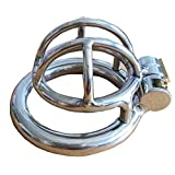 BDSM Steel stainless male chastity device penis cage penis ring ultrashort S048