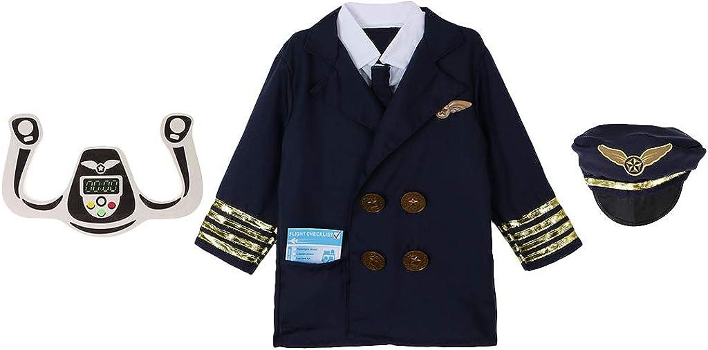 Baoblaze 3x Traje de Aviador Disfraces Halloween Set Fiesta Niños Piloto Adornos Diseño Único - Azul oscuro, Única: Amazon.es: Ropa y accesorios