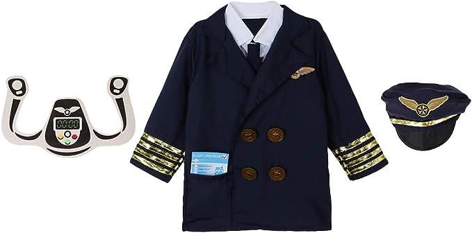 Baoblaze 3x Traje de Aviador Disfraces Halloween Set Fiesta Niños ...
