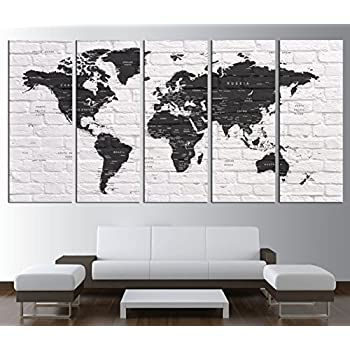 Amazon world map push pin world map with countries canvas world map push pin world map with countries canvas print push pin travel world gumiabroncs Gallery
