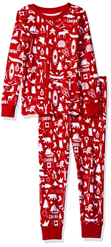 - Little Blue House by Hatley Boys' Little Long Sleeve Printed Pajama Set, Oh Canada, 4