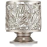 Bath & Body Works Winter Greens Pedestal Candle Sleeve Holder Silver Tone