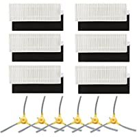 Replacement Parts for Eufy 11+ 11 Plus Robovac Vacuum Cleaner Accessories - Filters and Side Brushes (Pack of 12)