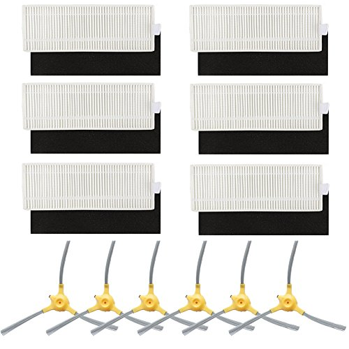 (BBT(BAMBOOST) Replacement Parts Compatible Eufy Robovac 11+ & 11Plus Vacuum Cleaner Accessories - Filters and Side Brushes (Pack of 12))